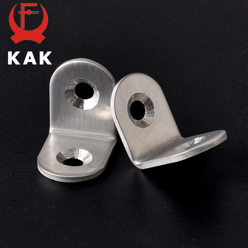 10PCS KAK 20x20x16mm Practical Stainless Steel Corner Brackets Joint Fastening Right Angle Thickened Brackets For Furniture Home ned 40x40x20mm practical stainless steel corner brackets joint fastening right angle 2mm thickened furniture bracket with screws