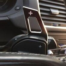Volante do carro dsg shift paddle extensão shifters adesivo para audi a3 s3 a4 s4 a5 s5 a6 s6 a8 r8 q5 q7 tt acessórios do carro