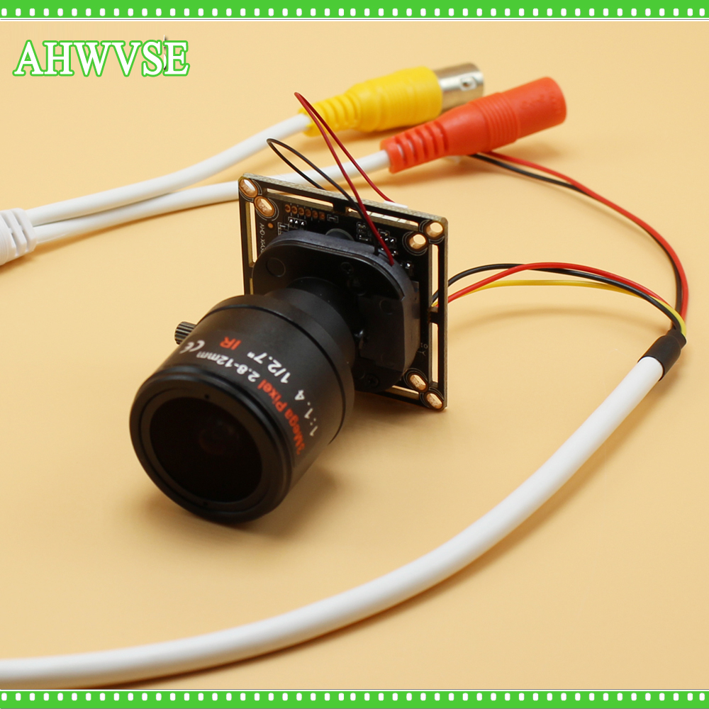 AHWVSE AHD Camera Module Board 2.8-12mm Lens CMOS IR Cut Filter 1080P Ultra Low Illumination Security Camera For AHD DVR