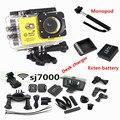 SJ7000 2.0 POLEGADAS LCD WIFI Action Camera Full HD 1080 P 170 Graus Lente Underwater 30 M Mini gravador cam + bateria Extra + Monopé