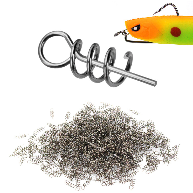 50pcs/lot Fishing Lures High Carbon Steel Spring Accessories Soft Worms Bait With Spring Fishing Lures Accessories Fish Tackle