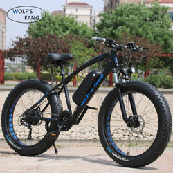Lupo fang Mountain Bike Bicicletta Elettrica 48V500W 13Ah 27 velocità di 26X4.0 potente Grasso bici elettrica Batteria Al Litio off bici da strada