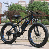 wolf's fang Mountain Bike Electric Bicycle48V500W12/10Ah27/21speed26X4.0powerful electric Fat bike Lithium Battery Off road bike|Electric Bicycle| |  -