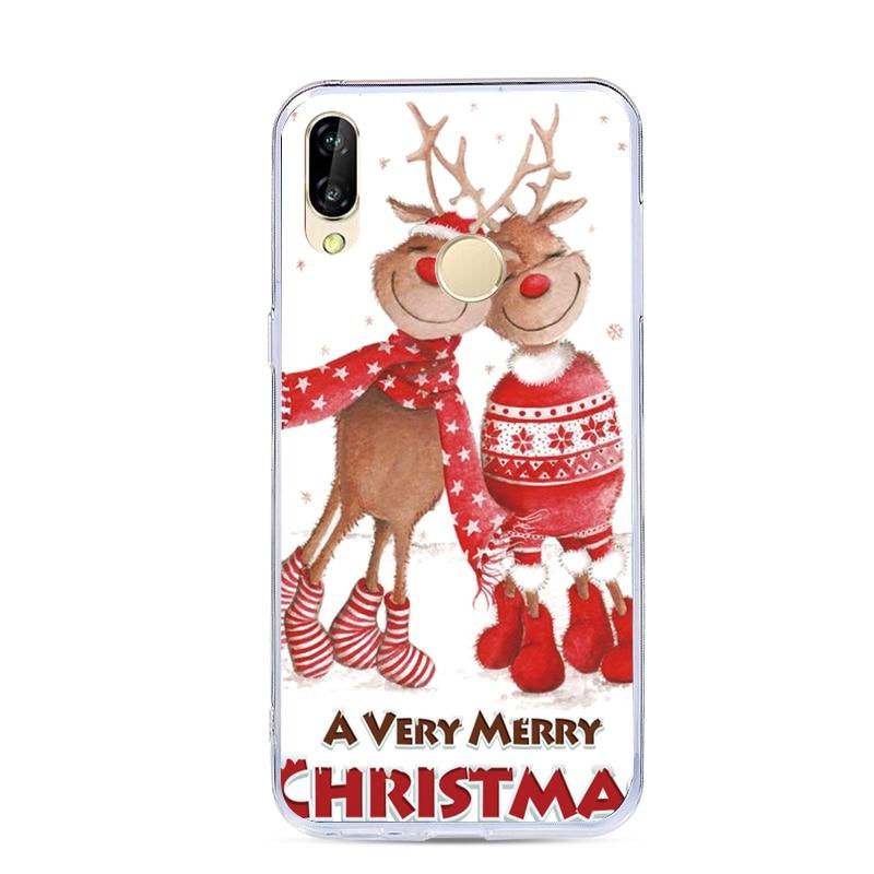 Cartoon Christmas Phone Shell For Huawei