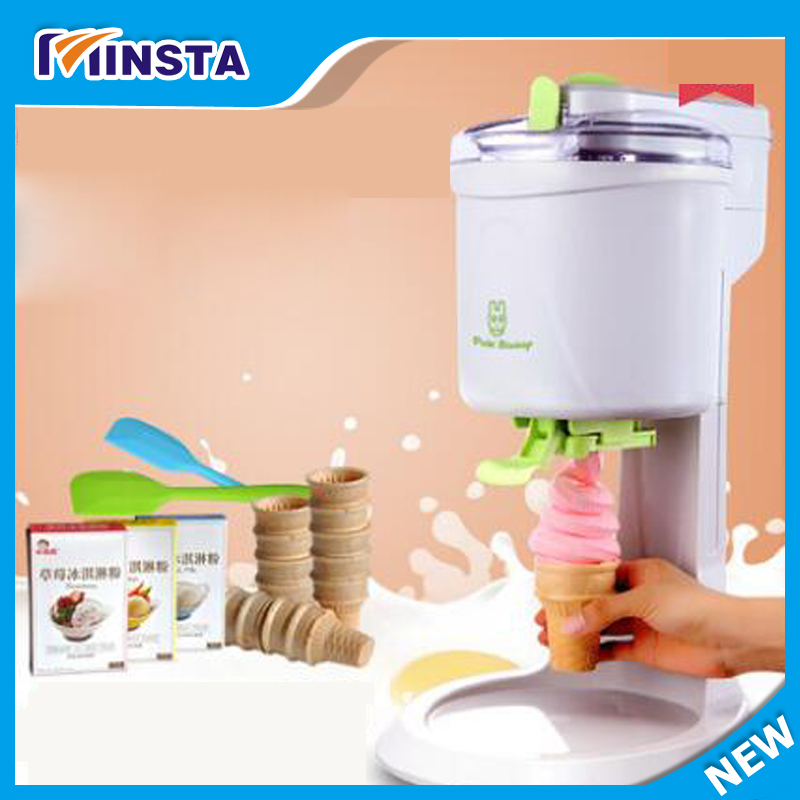 Free shipping Ice cream maker Commercial Soft Ice cream machine  Sundae Ice cream machine Yogurt machine high quality manual household use commercial snow ice crusher ice machine ice maker professional practical machine free shipping