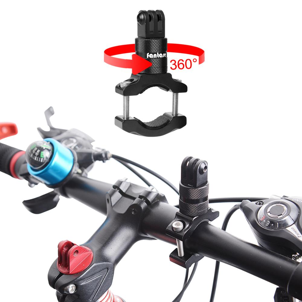 Image 5 - Aluminium Alloy Bike Bicycle Handlebar Rotary Stand Bracket Clamp for Sony FDR X3000 AS300 AS50R AS50 Action Camera Mount Holder-in Sports Camcorder Cases from Consumer Electronics