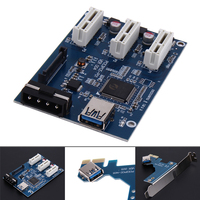Perfect Quality 3 In 1 PCI Express PCI E 1X Slots Riser Card Expansion Adapter PCI