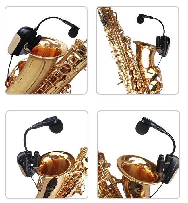 Professional UHF Wireless Mikrofone Microphone System for Saxophone Trumpet 80M