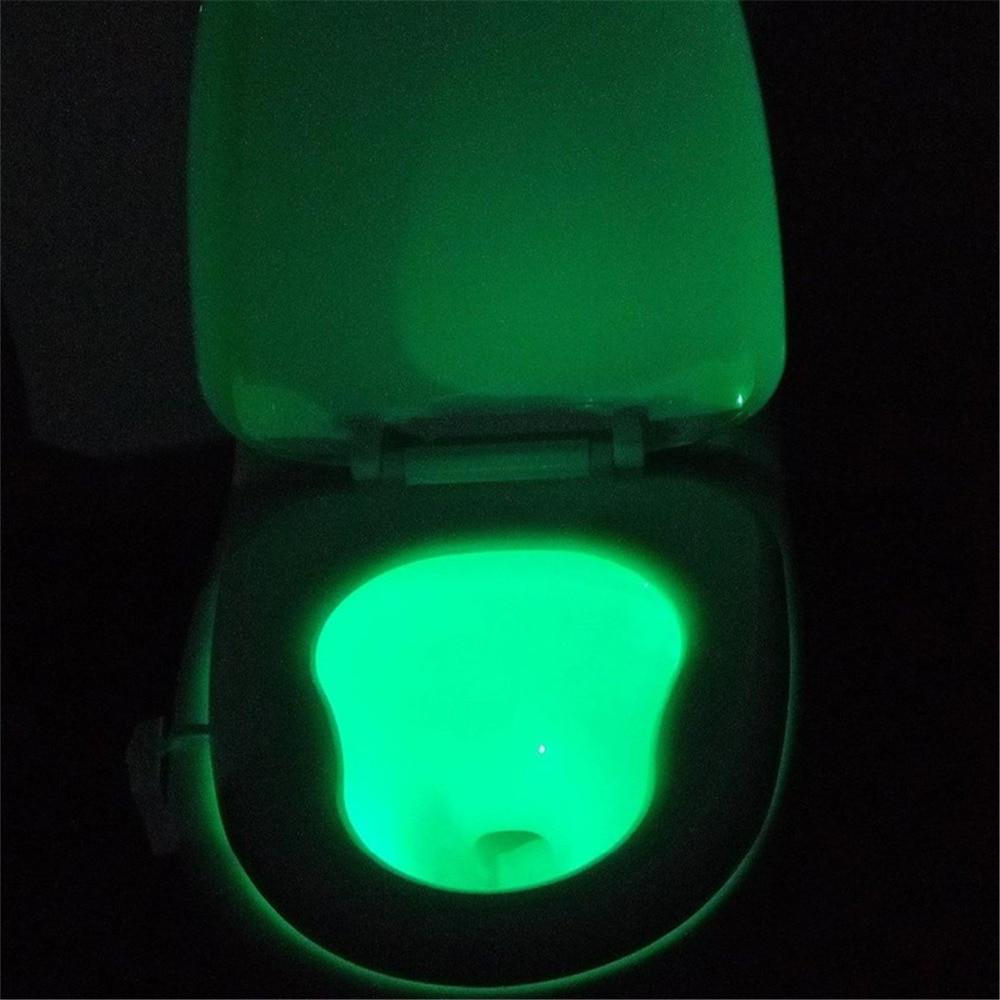 Viedā PIR kustības sensora tualetes sēdeklis nakts apgaismojums 8 - Nakts gaismas - Foto 6