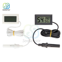 Thermometer Hygrometer Mini LCD Digital Temperature Indoor Convenient Temperature Sensor Humidity Meter Gauge Instruments Cable