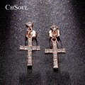 CHSOUL Classic Cross Dangle Earrings Women Cheap Price Fashion Rhinestone Cross Earrings Perfect Design
