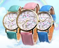 10pcs/lot Fashion Unicorn Women's Watches Bohemia Quartz Wrist Watch Ladies Watch Student Clock Kids Girl New Year Gifts