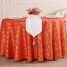 Table cloth, table European style tablecloth, garden red hotel round tea cloth
