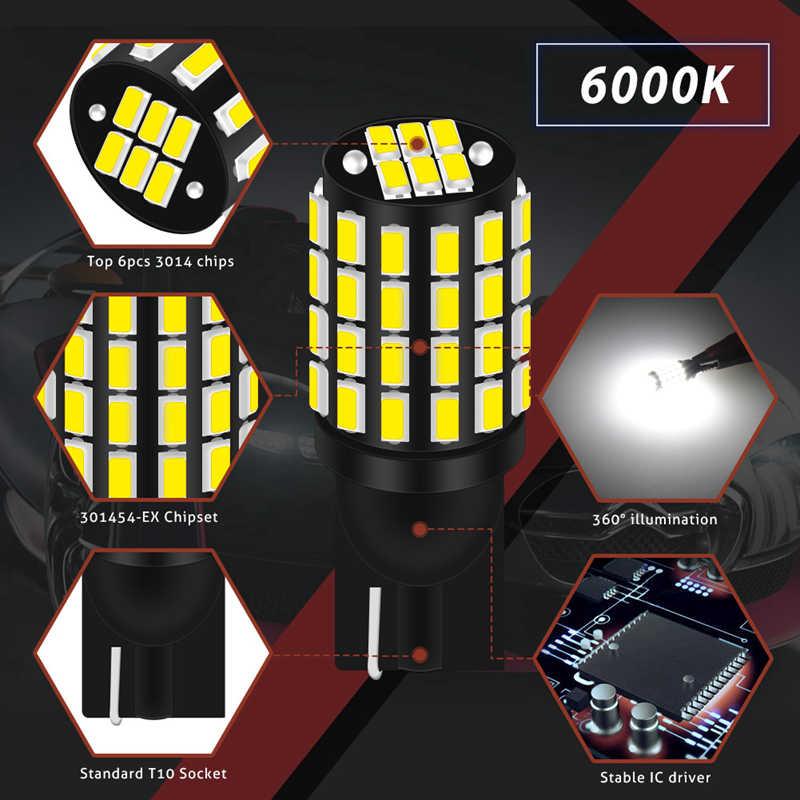 2 adet T10 led Canbus ampul W5W 168 194 800Lm hata ücretsiz dönüş sinyali plaka Ford odak 1 2 Fiesta Mondeo Ecosport
