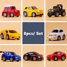8pcs Mini Alloy Car Toys Set Cute Children Kids Mini Car Toys Vehicle Sets Educational Pull Back Toys Model for Baby Funny Toys