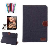 For Huawei MediaPad T3 10 Case Cowboy PU Leather Cloth Magnetic Stand Smart Cover Case AGS