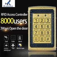 Metal Surface Waterproof Keypad RFID Access Control WG Reader 8000Users Big Capacity Anti vandal Standalone Reader