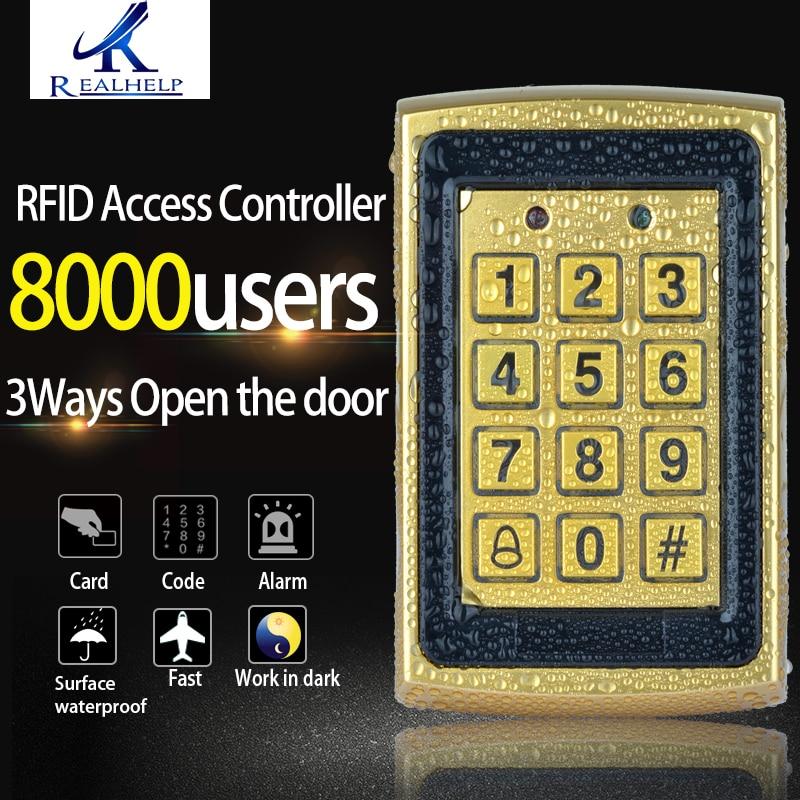 Metal Surface Waterproof Keypad RFID Access Control WG Reader 8000Users Big Capacity Anti-vandal Standalone Reader big bad monster reader
