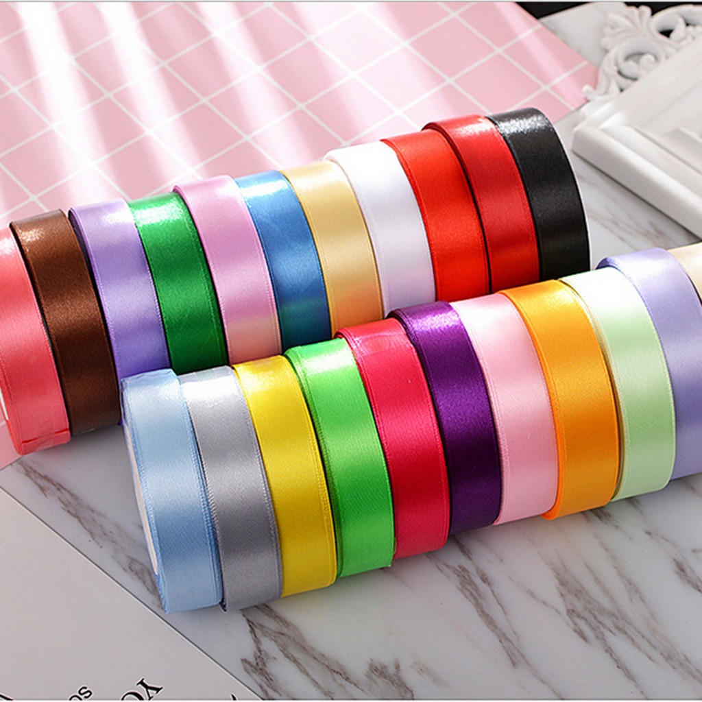 22 Colors Double Sides Satin Ribbons for Bowknot Crafts Flower Package Decor