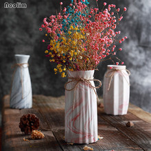 Marble Pattern Ceramic Flower Vase Creative Dried Flower Starry Flower Container Dining Table Living Room Decoration