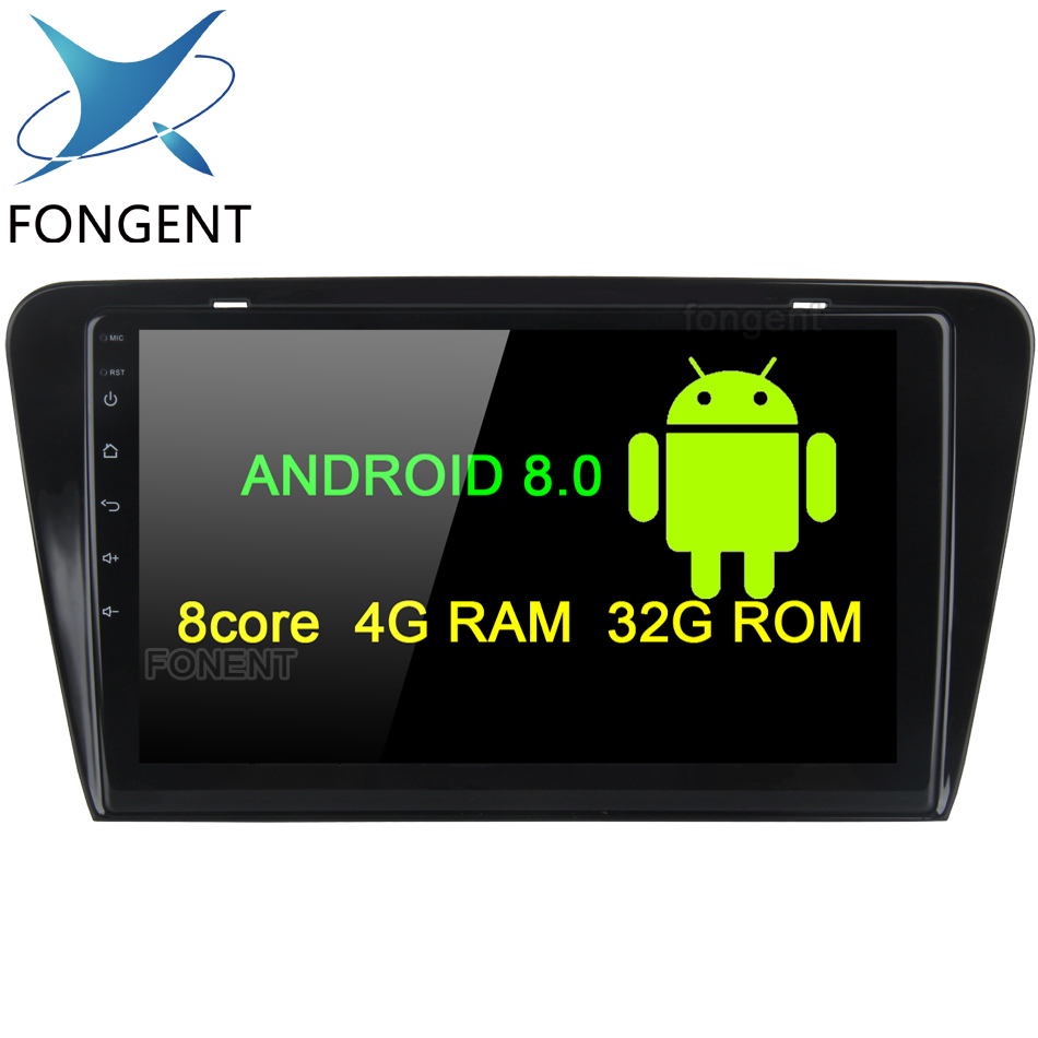 Système 2 din Android 8.0 Unité de Tête de voiture pour SKODA OCTAVIA 2014 2015 2016 Permanent radio gps navi stéréo Audio Véhicule ordinateur