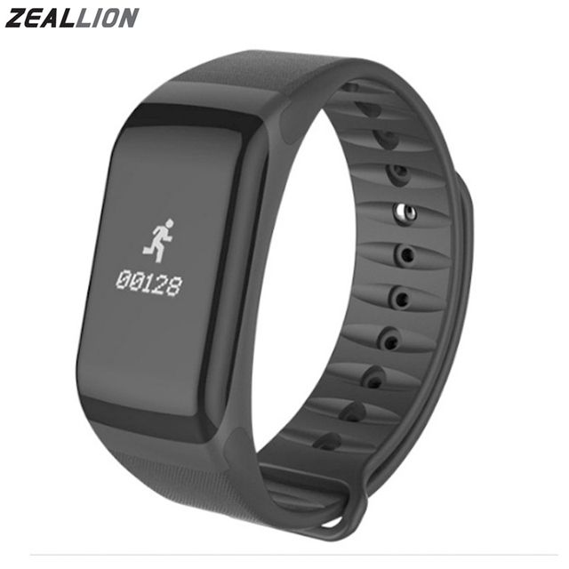 ZEALLION Banda Inteligente F1 relógio Inteligente Pulseira de Relógio Monitor de Freqüência Cardíaca pressão arterial SmartBand Aptidão Para Android IOS