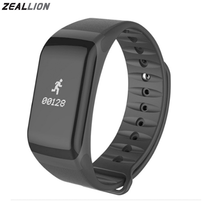 ZEALLION Smart Band F1 blood pressure watch Smart Bracelet Watch Heart Rate Monitor SmartBand Fitness For Android IOS