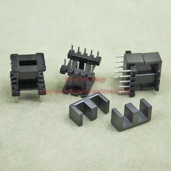 20sets/lot EE13 PC40 Ferrite Magnetic Core and 5 Pins + 5 Pins Top Entry Plastic Bobbin Customize Vo