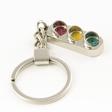 Hot Fashion Creative Traffic Light Styling Car Key Ring Classic Car Keychain Car Accessories Free Shipping