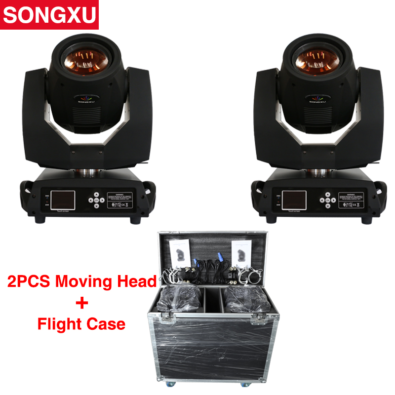 2pcs Touch Screen Lyre Sharpy Beam 230 Beam 7R Moving Head Light with Flight Case Package
