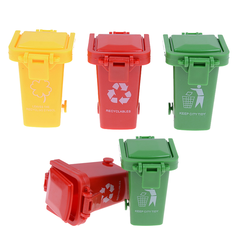 3Pcs/pack Creative 1/12 Miniature Education Dollhouse Accessories Mini Garbage Trash Can Decor Gift Toys And Hobbies