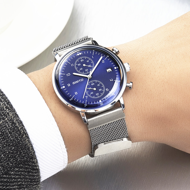 Famous brand business men watches luminous 2017 GIMTO full steel quartz watch men waterproof 30m male clock relogio masculino luxury watch men famous brand gimto business men watch 2017 casual quartz watch stainless steel men watch waterproof male clock