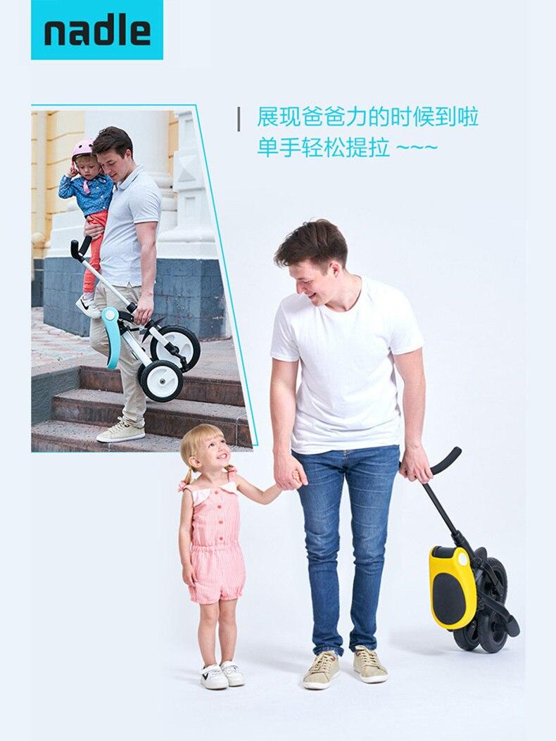 Enfants Tricycle monter sur des jouets enfants vélo pliant - 2