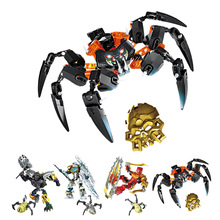 BionicleMask of Light XSZ 708-4 Children Lord Of Skull Spider Building Block Toys Compatible with Legoings Bionicle 70790 deblasio 70790