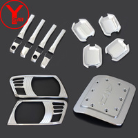 Conjunto completo de Cromo accesorios del coche Kits de Cubiertas Para MITSUBISHI PAJERO V73 ABS moldeado cuerpo kits de cubiertas exteriores Para PAJERO YCSUNZ