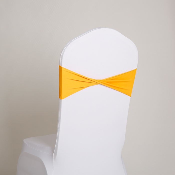 Wholesale 100pcs lot Spandex Lycra Wedding Chair Cover Sash Bands Wedding Party Birthday Banquet Chair Sashes