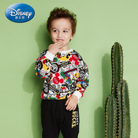 New Disney Authentic 2019 Baby Boys Suits Long Sleeve Sweatshirt Long Pants Children Spring Autumn Cool Clothing Set Gifts