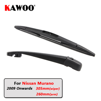 KAWOO Car Rear Wiper Blade Blades Back Window Wipers Arm For Nissan Murano Hatchback (2009 Onwards) 305mm Auto Windscreen Blade sliverysea rear windscreen wiper and arm for honda airwave 2009 onwards 14 5 door wagon high quality iso9000 natural rubber