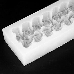 Image 5 - Kwiat róży silikonowe do mydła formy prostokątne z wytłoczonym sztuka DIY Craft Relief foremka dekoracyjna