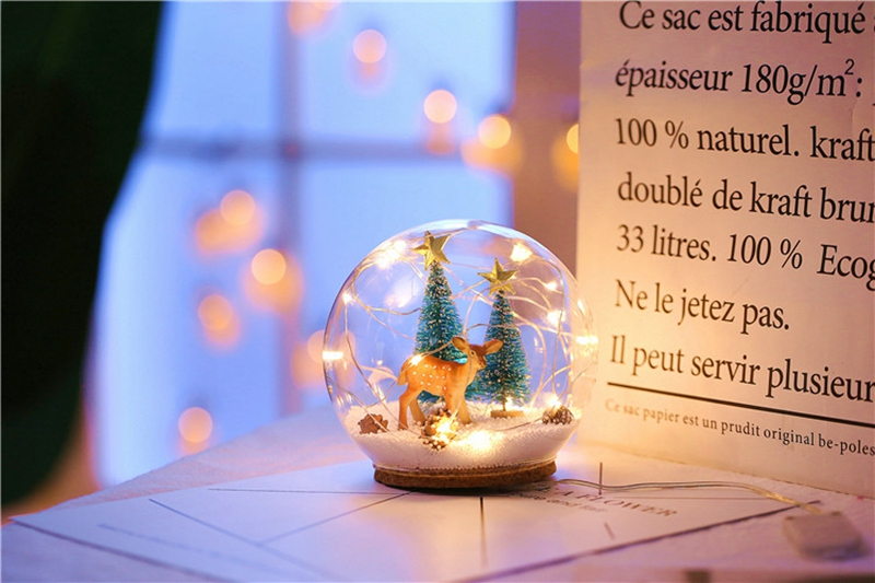 Creative LED Crystal Ball Design Table Lamp Room Decor Bedside Night Light For Girls Baby New Year Christmas Birthday Gift (10)