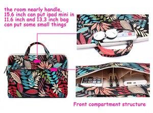 """Image 2 - Dizüstü bilgisayar macbook çantası Hava 13 13.3 """"Kılıf Pro 13 Retina 11 12 14 15 15.6 Çiçek Taşınabilir çanta çanta dell HP Xiaomi Dizüstü"""