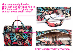 "Image 2 - Laptop Bag For Macbook Air 13 13.3"" Case Pro 13 Retina 11 12 14 15 15.6 Flower Portable Handbag bag for Dell HP Xiaomi Notebook"