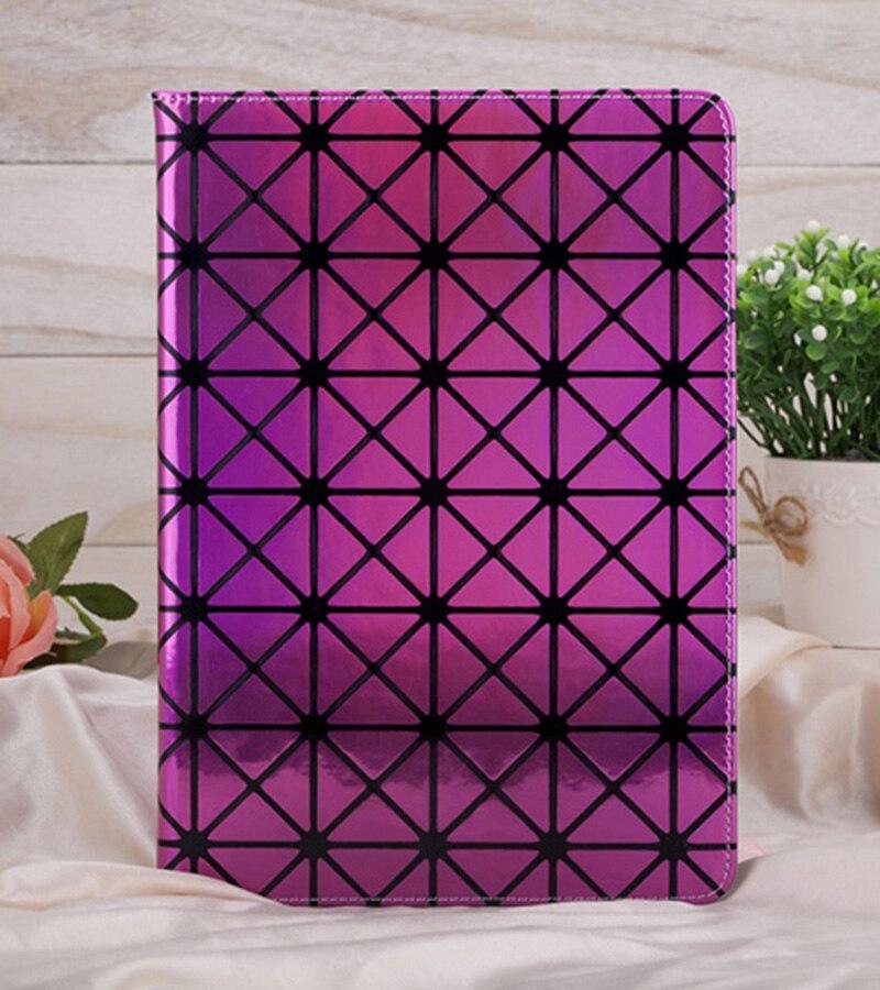 Lüks Geometrik Grafik Bling Lazer Desen PU Deri iPad mini Için Kılıf Kapak 1 2 3 4 ipad 2 3 4 5 6 Hava Air2 Tablet