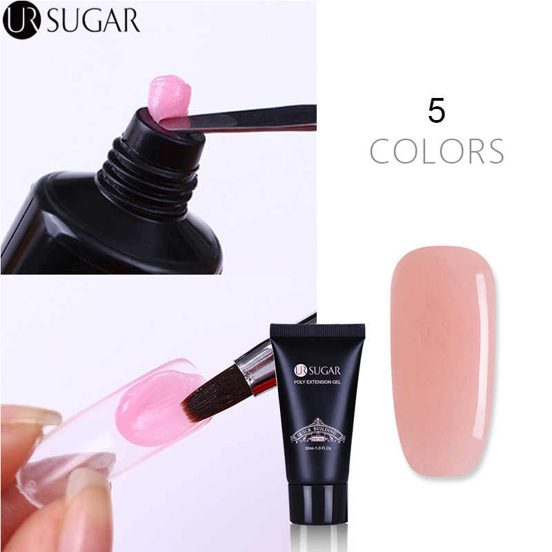 Ur Suiker 30 Ml Poly Nail Gel Crystal Breiden Uv Gel Extension Builder Uv Gel Polish Nail Jelly Acryl Builder uv Led Gel