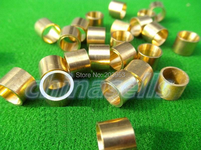 5pcs Billiards Snooker Copper Ferrule Brass Snooker Pool Cue Ferrules Cue Repair Tool Accessories 9mm 9.5mm 10mm