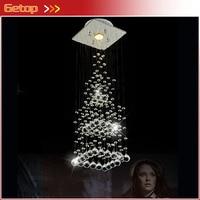 Besten Preis Kreative Pyramide Kristall Licht Schlafzimmer Restaurant Lampe LED Hängenden Draht Kristall Lampe Deckenleuchten Kostenloser Versand-in Deckenleuchten aus Licht & Beleuchtung bei