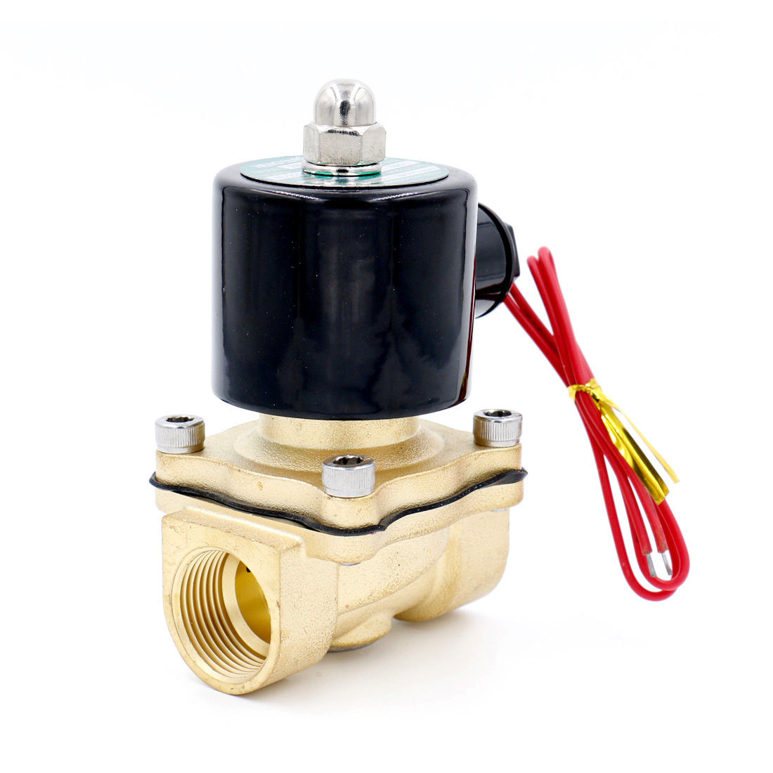 Brass Electric Solenoid Valve 2W-200-20 3/4 Inch NPT for Air Water Valve 110V NC globe valve 2 way nc 1 1 2 in f npt
