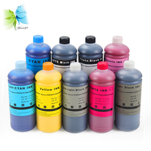 9Color Pigment ink + Empty refill ink cartridge with chip for Epson P6000 P8000 printer