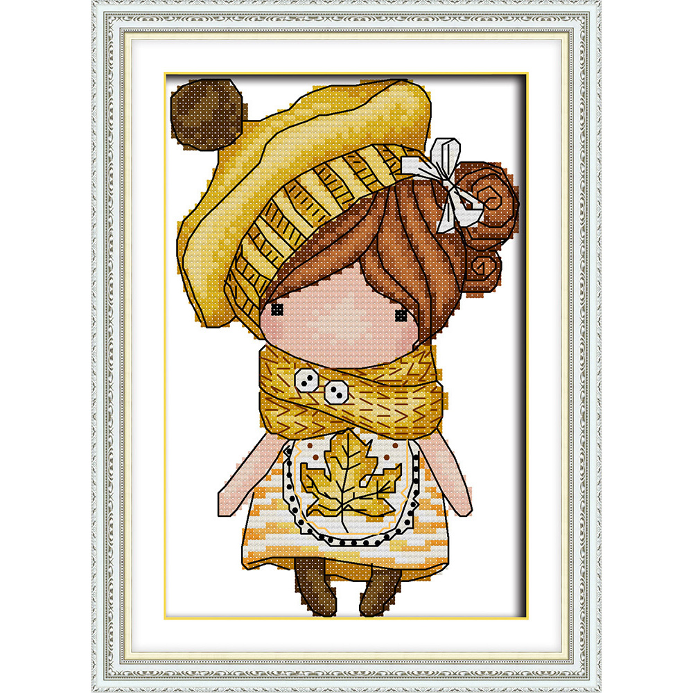Everlasting love Magic doll Ecological cotton Cross Stitch 11CT and 14CT Printed christmas New Year