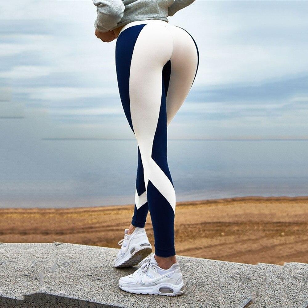 Leggings Sexy Women's Striped Workout Leggings Fitness Sports Gym Running Athletic Pants Leggings Fitness Feminina #A